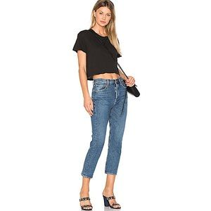 AGOLDE 'Riley' High-Rise Straight Cropped Jeans